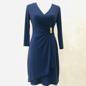Calvin Klein Faux Wrap Dress EUC